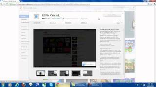 How to download the Cricinfo Toolbar on Google Chrome