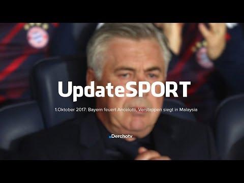 Update SPORT – 1.Oktober 2017: Bayern feuert Ancelotti, Verstappen siegt in Malaysia