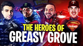 THE HEROES OF GREASY!! (ft. SypherPK, CouRage & Trevor May) | Fortnite Battle Royale Highlights #188