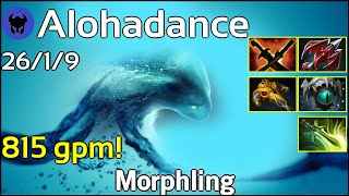 815 gpm! Alohadance plays Morphling!!! Dota 2 7.20