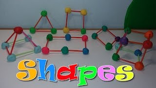 Geometric Shapes with Play-Doh and straws!!