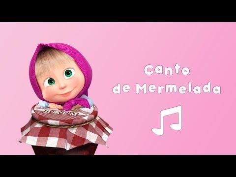 Masha y el Oso -  Canto de Mermelada 🍒 (Karaoke 🎤 Canción para Niños)