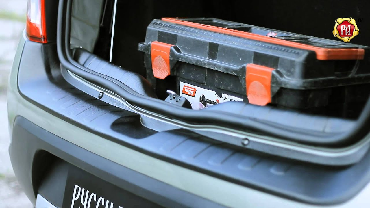 Накладка на задний бампер Renault Sandero Stepway, 2014-н.в. (russ .