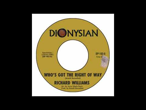 Richard Williams - Who's Got The Right Of Way
