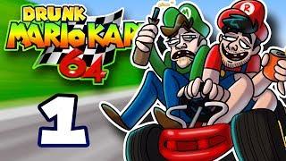 Drunk Mario Kart 64 - EP 1: Mushroom Cup | SuperMega