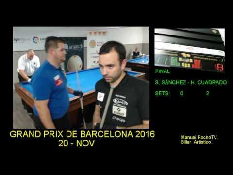Billar Artístico. Grand Prix de Barcelona 2016. Final. Segunda parte