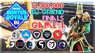 $1,000,000 🥊EU Winter Royale Grand Finals🥊 Game 1 (Fortnite)