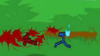Ultimate Stick Figures battle (red vs Blue)