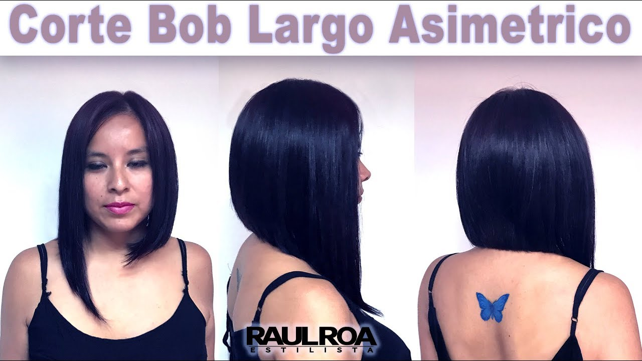 Corte de cabello bob largo lacio