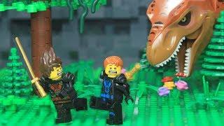 Lego NinjaGo Time Machine to Fight Dinosaur Jurassic