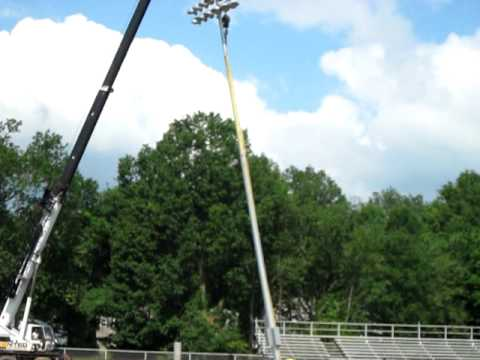 Lieder Field  First Musco Field Light Pole Installed  YouTube