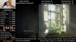 The Last of Us Speedrun World Record! (2:54:55) on Grounded mode (Glitchless)