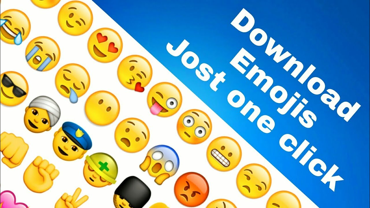 How to Download Emojis WhatsApp, messager, hike Emojis Jost one click no  zip file