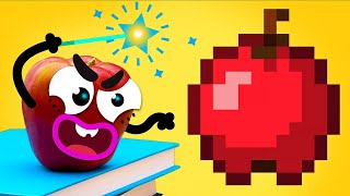 Real life of doodles vs Minecraft magic world - DOODLAND
