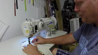 Got a new Juki walking foot sewing machine to do car upholstery