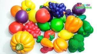 Фрукты и овощи названия и цвета | Учим названия фруктов | Развивающее видео для малышей