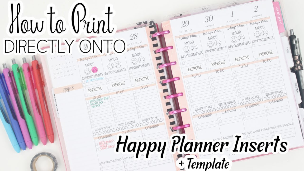 picture relating to Happy Planner Monthly Layout Printable named Printing Instantly Upon Satisfied Planner Inserts + Template How Toward Straightforward Coloration Code Coming up with