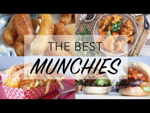 THE BEST VEGAN MUNCHIES RECIPES | 10 Vegan Snack Ideas |  The Edgy Veg