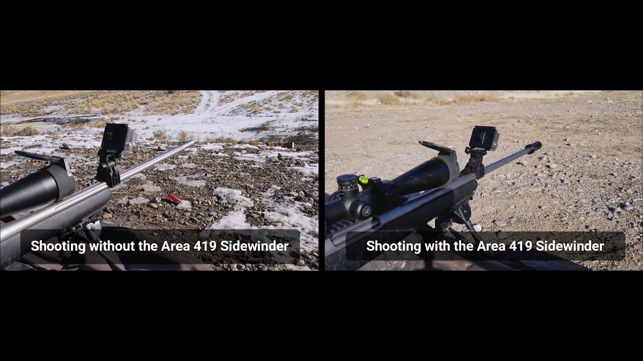 Area 419 Sidewinder Muzzle Brake on Sako 300 Win Mag