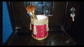 How to Make Pen Holder Stand Using Waste Material Best out of Waste  handmade pen stand AS Creation