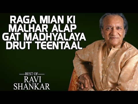 Raga Mian Ki Malhar Alap Gat Madhyalaya Drut Teentaal - Pandit Ravi Shankar (Album: Best Of)