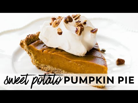 Sweet Potato Pumpkin Pie // vegan, gluten-free, paleo option