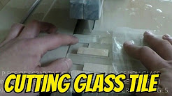 HOW TO CUT GLASS TILE ON WET SAW - EASY WAY TO CUT MOSAIC GLASS TILE