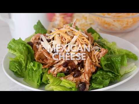 Slow Cooker Chicken Black Bean Taco Salad