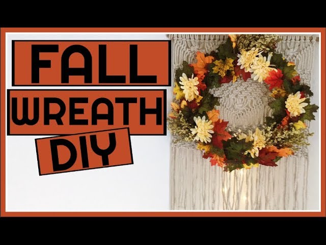 Fall Wreaths Fall Wreaths Diy Dollar Tree Fall Wreath