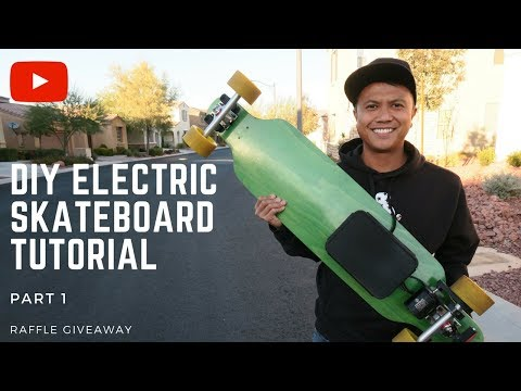 HOW TO BUILD A DIY ELECTRIC ⚡SKATEBOARD TUTORIAL PART 1 - BETTER THAN A BOOSTED BOARD