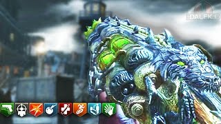 MOB OF THE DEAD FULL EASTER EGG - BLACK OPS 2 ZOMBIES EASTER EGG GAMEPLAY!