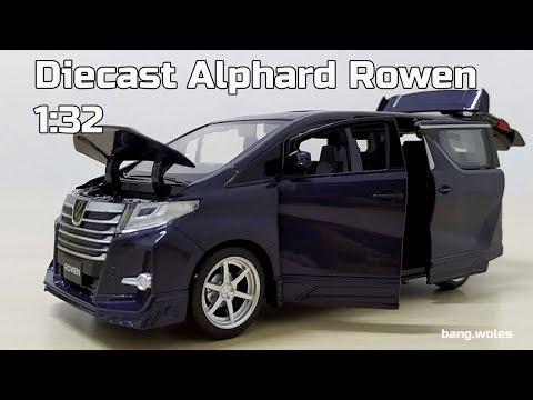 Diecast Toyota Alphard Rowen Skala 1:32