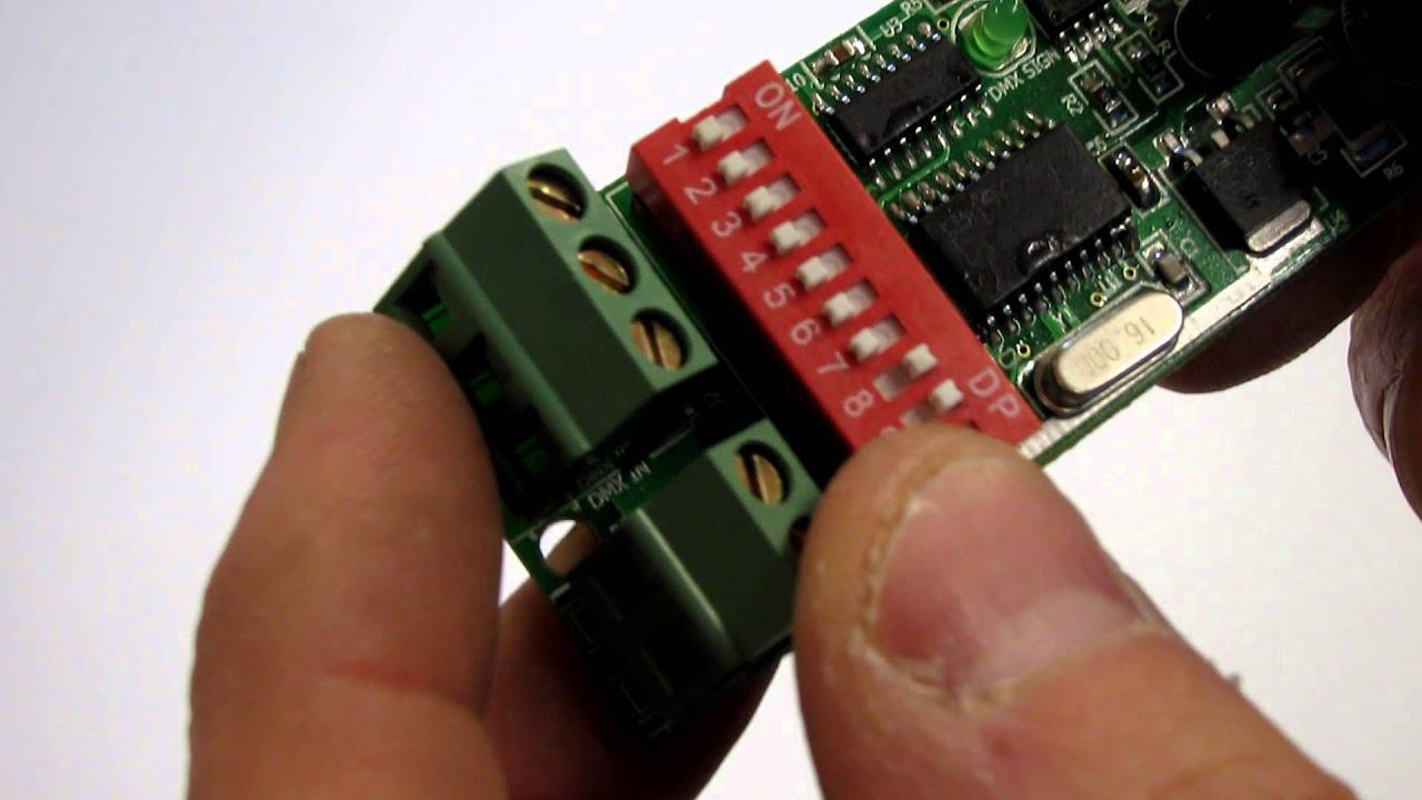 Dumb / Basic RGB DMX Controller - 3 Channel for LED Lights / DIP Switch  Addressing