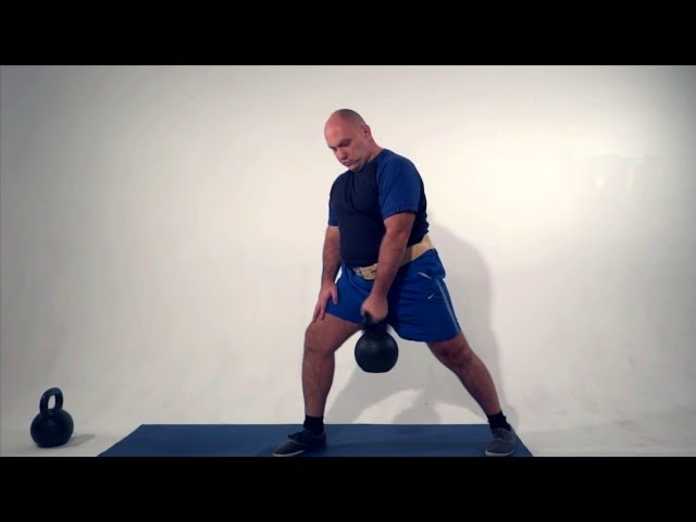 Kettlebell workout for beginners. Total body exercises for weight loss