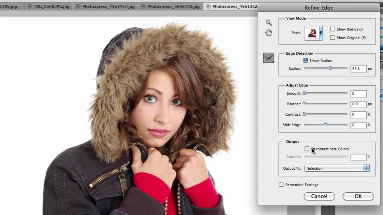 Refine edge in photoshop cs5 youtube baditri Choice Image