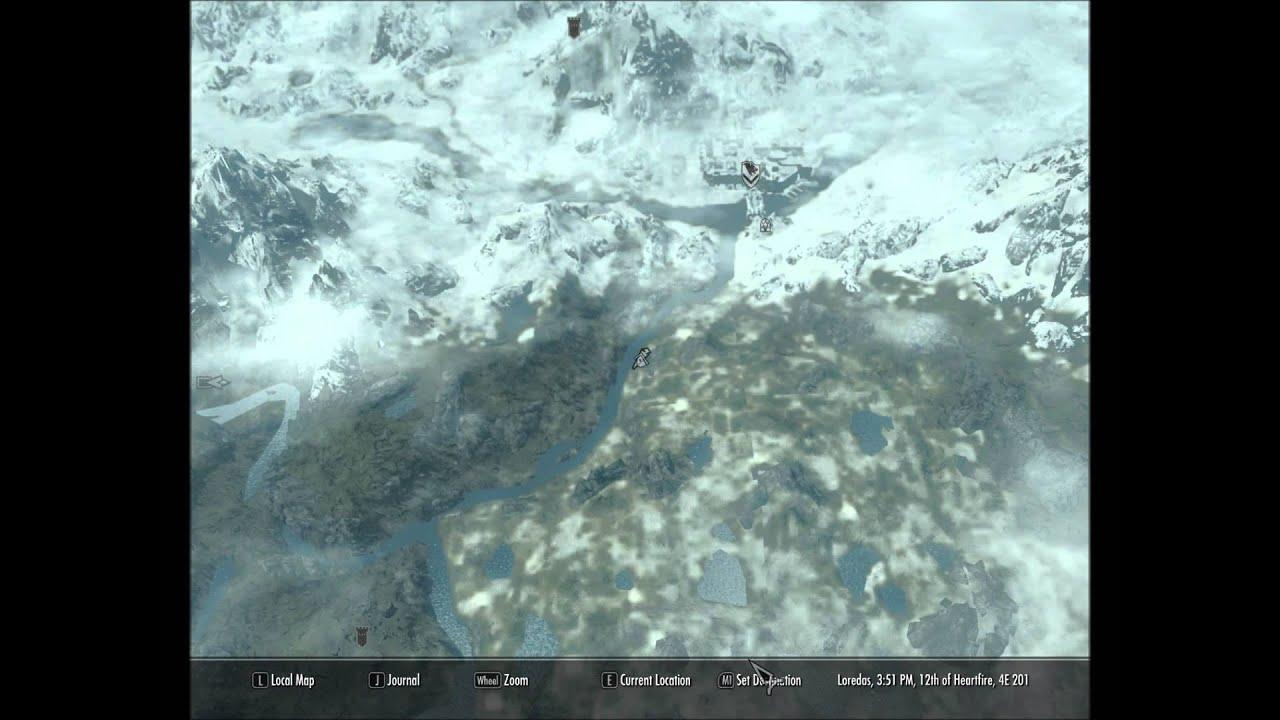 Skyrim - Treasure Map 3 III (Lighthouse Of Solitude) - YouTube