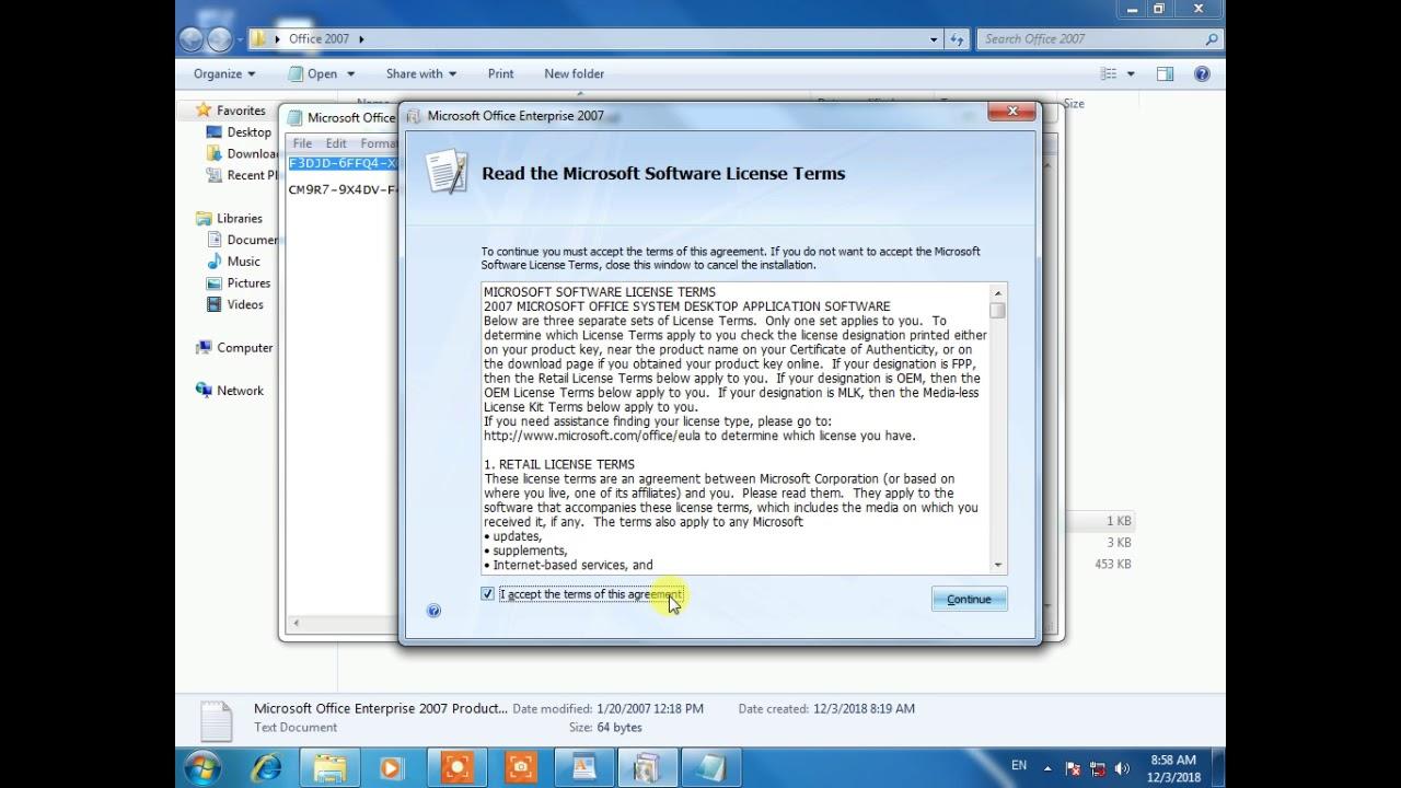 microsoft office 2007 license agreement