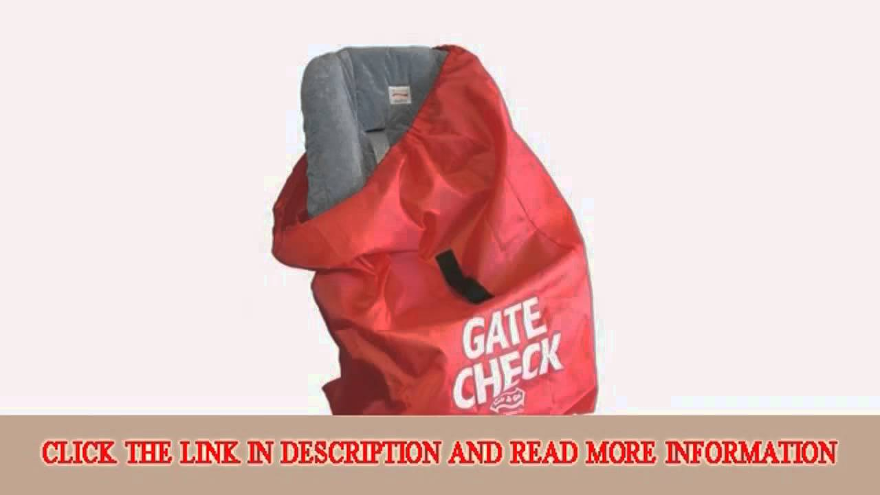 JL Childress Gate Check Bag For Car Seats Newborn And Above Red Top Goods