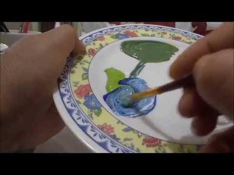 Pintura en tela como hacer verde y azul 12 marimur 543 for Como hacer color verde
