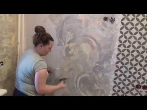 Декоративная штукатурка: отделка стен и трафареты своими руками