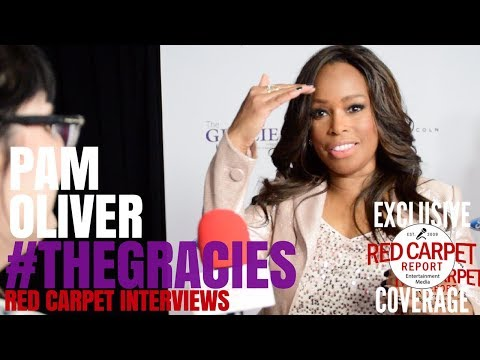 Pam Oliver, NBC Sportscaster interviewed at the 43rd Annual Gracie ...