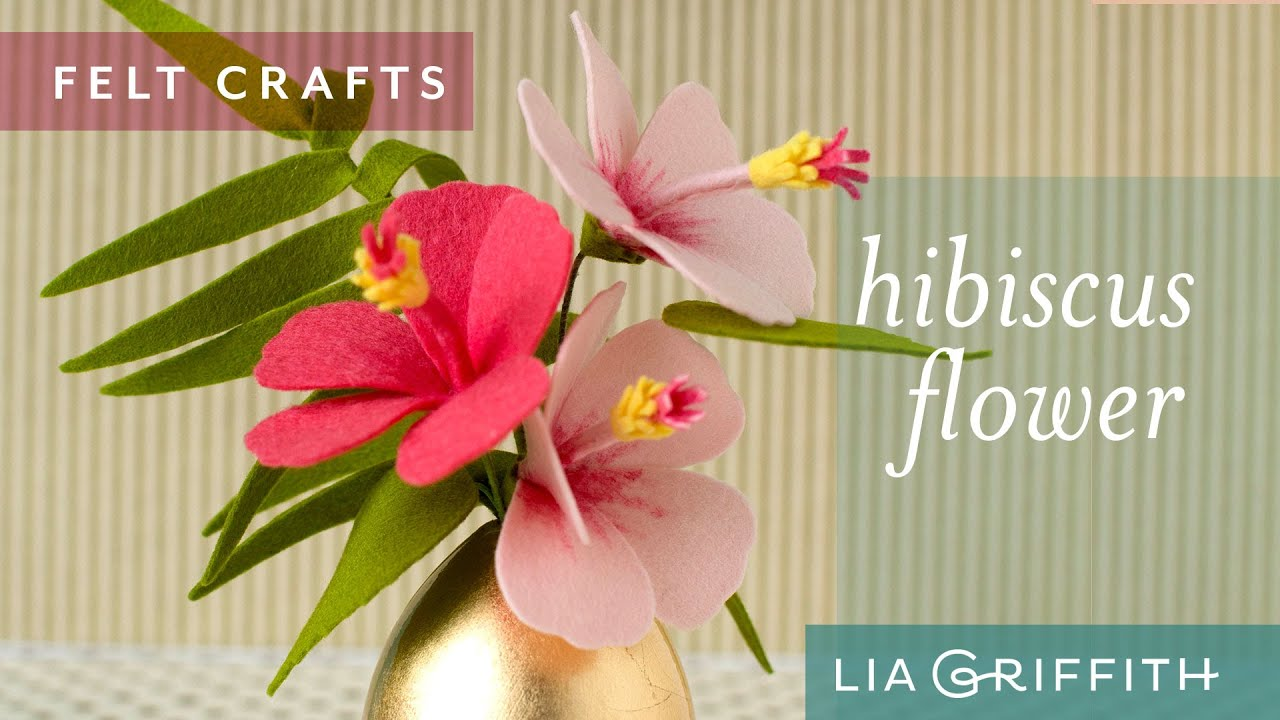 How To Make A Felt Hibiscus Flower Youtube