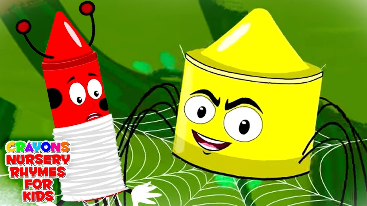 Incy Wincy Spider | Spider Song | Crayons Nursery Rhymes and Baby Songs