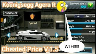 Drag Racing[Cheated Price]:tune car Agera R