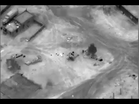 Реальное видео уничтожения ЧВК 'Вагнер' в Сирии.