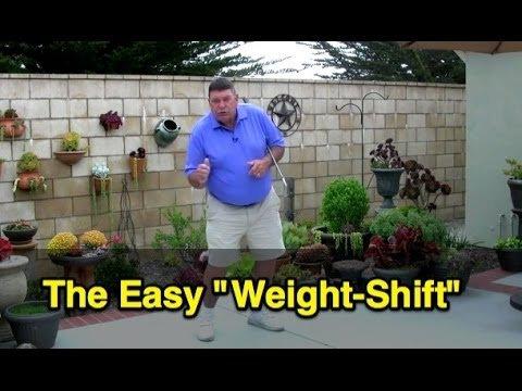 Golf Swing Easy Weight Shift