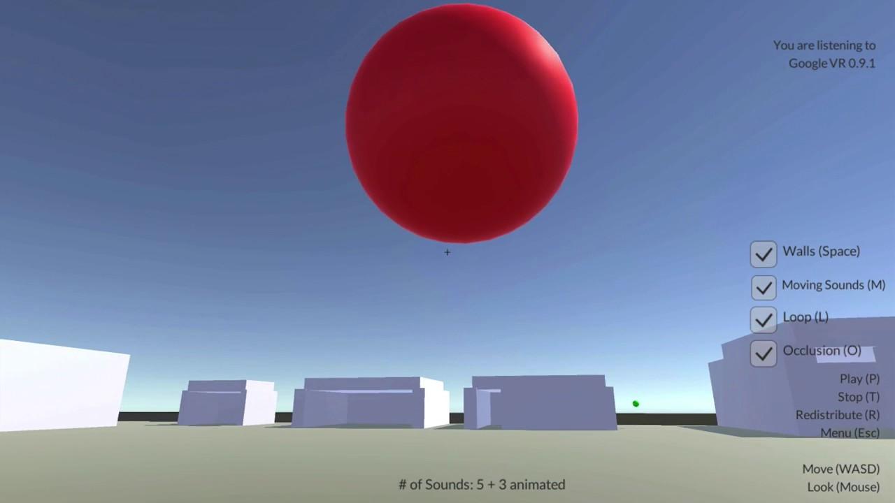 3D Audio Spatializer (VR Audio) Comparison in Unity 3D Demo Apps
