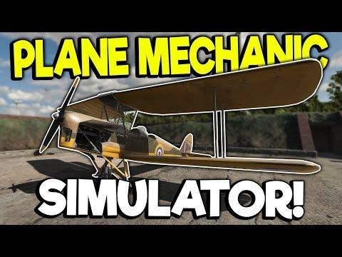 WORKING ON WWII AIRPLANES! - Plane Mechanic Simulator Gameplay |