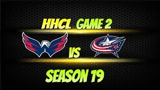 Roblox HHCL Season 19 Round 2 WSH VS CBJ Highlights! 6-5 WSH F/OT