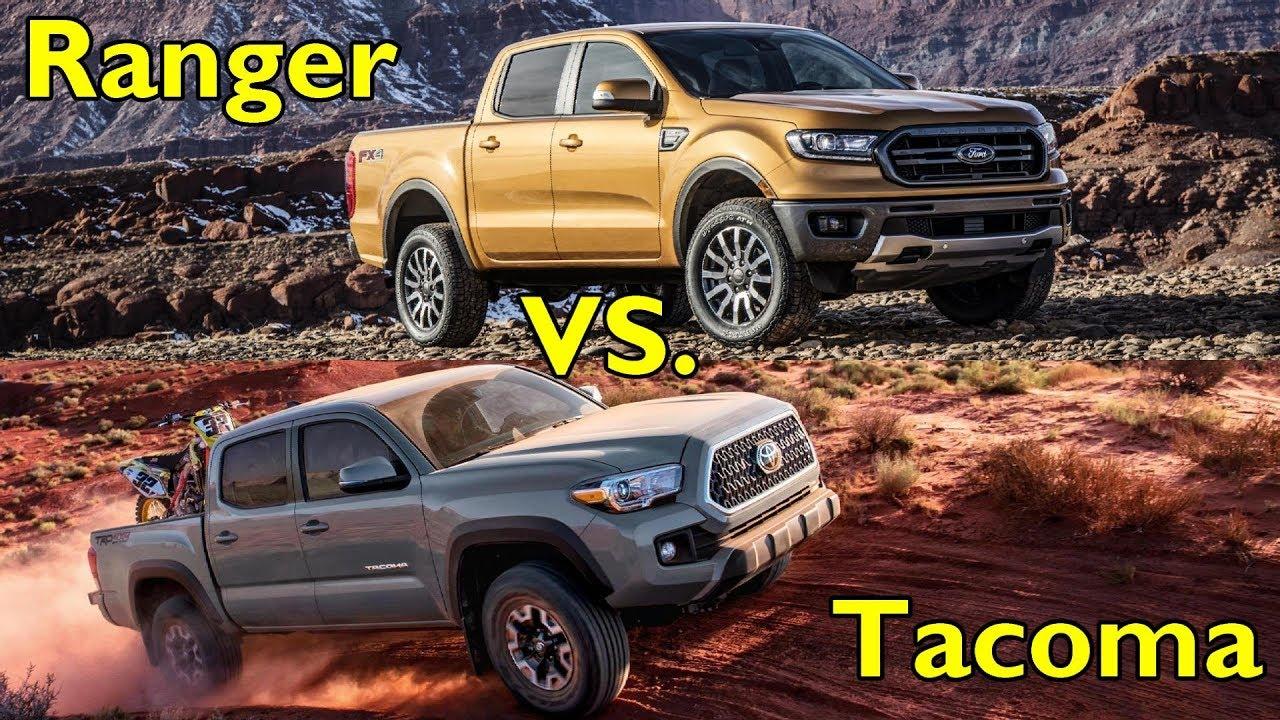 2019 ford ranger vs 2018 toyota tacoma visual comparison youtube. Black Bedroom Furniture Sets. Home Design Ideas